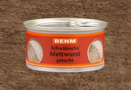 Schwäbische Mettwurst gekocht